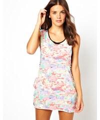 Insight - Static - Bedrucktes Strandkleid mit Schnürung - Rosa