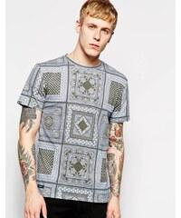 Son Of Wild - T-shirt à imprimé bandana - Bleu