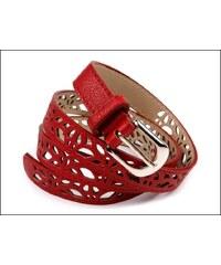 Slušivý červený pásek s perforováním