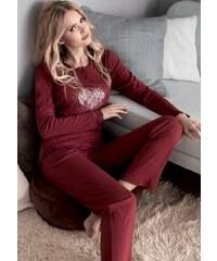 Dámské pyžamo Infiore 65783 Wine
