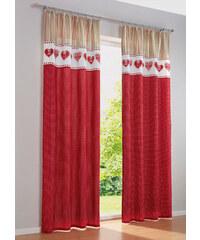 bpc living Vorhang Mila (1er-Pack), Kräuselband in rot von bonprix