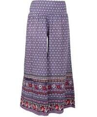 RAINY dámské letní široké kalhoty fialový potisk Nomads