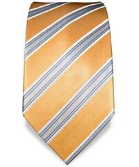 Vincenzo Boretti 1829 okrová kravata s pruhem