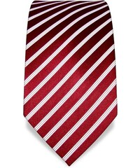 Luxusní červená kravata Vincenzo Boretti 1411 s proužky