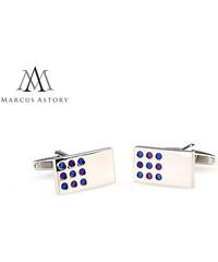 Marcus Astrory Luxusní manžetové knoflíčky Marcus Astory obdelník s tečkou