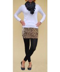 LM moda Legíny se sukní černé leopard