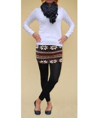 LM moda Legíny se sukní černé vzor 3