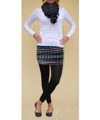LM moda Legíny se sukní černé vzor 6