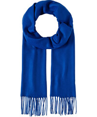 LM moda Šála zimní unisex s třásněmi královsky modrá