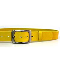LM moda Dámský žlutý pásek s hranatou sponou ČR 4cm