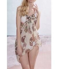 LM moda Sarong šátek na pláž 114 bílý s lebka