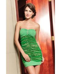 Zelené sexy koktejlové šaty