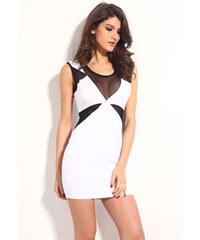 Bíločerné přiléhavé šaty Sarah