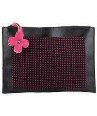 Černá kabelka přes rameno s růžovými puntíky Tantrend
