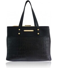 Luxusní černá kabelka LYDC London