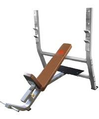 Schrägbank, positive, mit integrierter Hantelablage, »STR1400«, Strength by U.N.O. Fitness