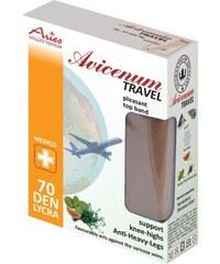 ARIES Podpůrné cestovní podkolenky Travel se zesílenou patou a mikrokapslemi Skintex AHL