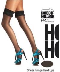 HENRY HOLLAND Samodržící punčochy s třásněmi