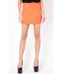 MISTRESS Neonově oranžová mini sukně