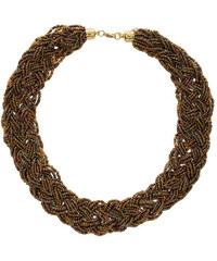 LA FEMME Elegantní pletencový náhrdelník