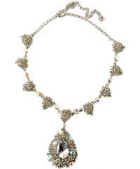 LA FEMME Náhrdelník s čirými krystaly
