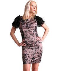 LIPSY Elegantní růžovo-černý top