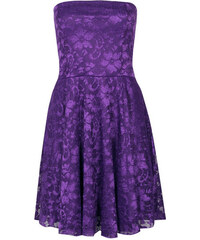 BOOHOO Fialové krajkové šaty Lulu