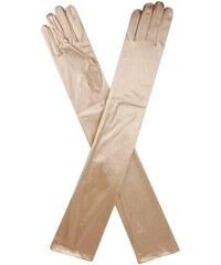 LONDON TIMES Večerní dlouhé zlaté rukavice