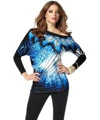 Triko Laura Scott na jedno rameno se štrasem 38 černo-modrá