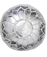 NILA Marocký taburet stříbrný