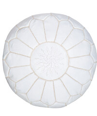 NILA Marocký taburet bílý