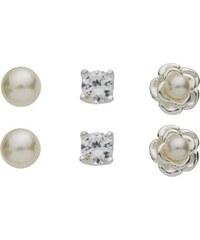 CONNECTED Stříbrný set s perlami a zirkonem