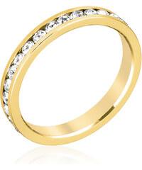 LYRA Prsten s čirými Swarovski krystaly R01147G-C02