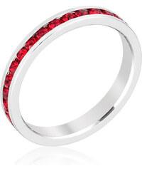 LYRA Prsten s červenými Swarovski krystaly R01147R-V13
