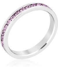 LYRA Prsten s fialovými Swarovski krystaly R01147R-V22