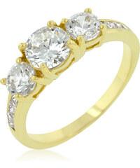 LYRA Prsten s čirým Zirkonem R08174G-C01