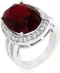 LYRA Prsten s červeným Zirkonem R08203R-C13