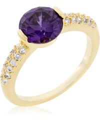 LYRA Prsten s fialovým Zirkonem R08348G-C20