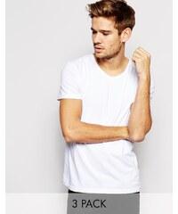 Tommy Hilfiger - Stretch-T-Shirts mit Rundhalsausschnitt im 3er-Set in regulärer Passform - Weiß