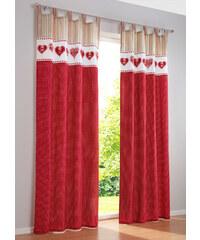 bpc living Vorhang Mila (1er-Pack), Schlaufen in rot von bonprix