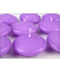 Plovoucí dekorační svíčka fialková