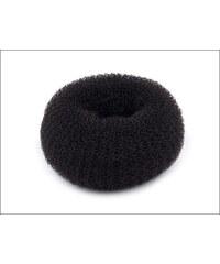 Pevná černá drátěnka (donut) do drdolu Ø 6 cm
