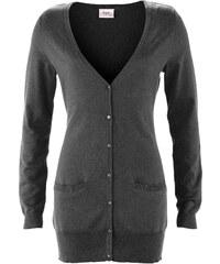 bpc bonprix collection Long-Strickjacke langarm in grau für Damen von bonprix