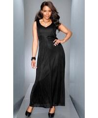 Společenské šaty pro plnoštíhlé, M.I.M. zkrácená velikost černá 21 (42)