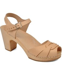 Swedish Hasbeens - Peep toe super high - Sandalen für Damen / beige