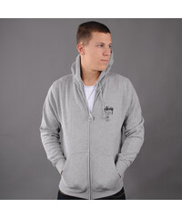 Stussy World Tour Zip Hood šedá