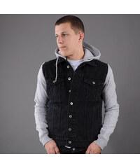 Urban Classics Hooded Denim Fleece Jacket black
