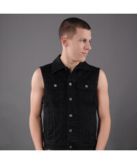 Urban Classics Denim Vest black raw