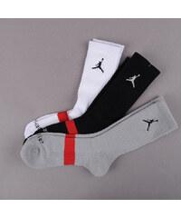 Jordan Drifit Crew 3 Pack černé / šedé / bílé (basketbal)