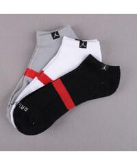 Jordan Drifit No-Show 3 Pack černé / šedé / bílé (basketbal)